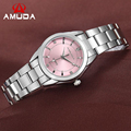 AMUDA Brand Fashion Wristwatches Women Stainless Steel Band Women Dress Watches Women Quartz-Watch Relogio Feminino