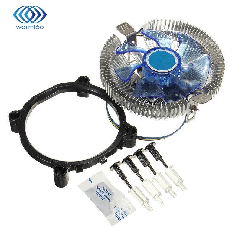LED CPU Cooling Cooler  Fan Heatsink for Intel LGA775 1155/1156 AMD754 AM2 2+ AM3 led cpu cooling cooler fan heatsink for
