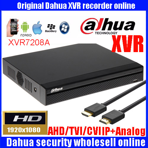 Dahua 1080P video recorder DHI-XVR7208A H.264 2 SATA Ports up to 6TB Support HDCVI/CVBS/HDTVI/AHD video inputs DH-XVR7208A