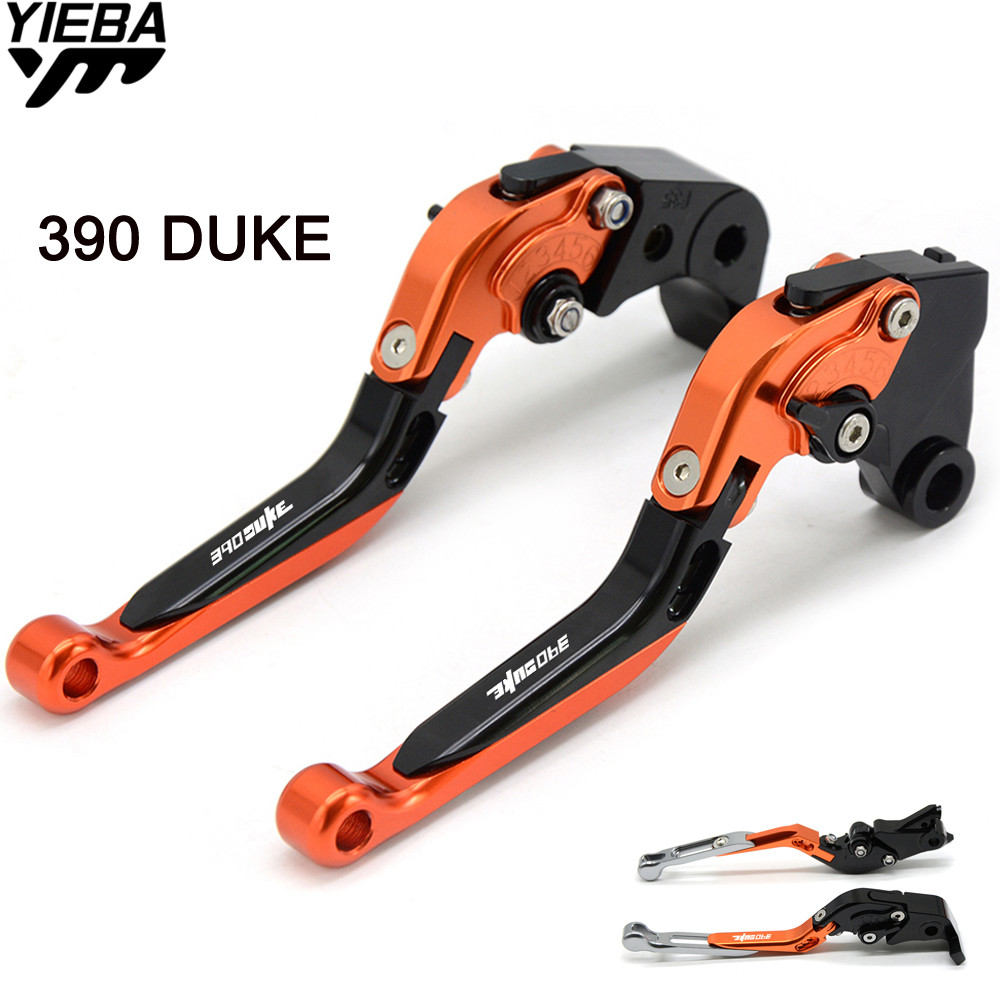 390DUKE LOGO Motorcycle Handle Adjustable Brake Clutch Levers For KTM 390 Duke 390DUKE RC390 RC 390 DUKE250 2013 2014 2015 2016 motorcycle rear brake master cylinder reservoir cove for ktm duke 125 200 390 rc200 rc390 2012 2013 2014