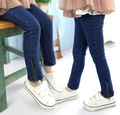 Retail 2014 autumn and winter childrens girls Jeans,kids Zipper Pencil pants for 2-9T,girl cotton pants