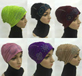 New Big Size Adult Hot Drill Crinkle Muslim Islamic Underscarf Hats Inner Hijab Caps Head Wear