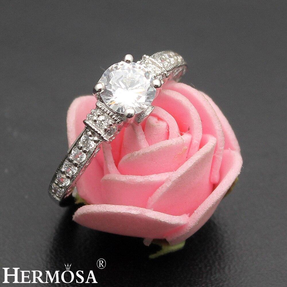 Amazing Grace Womens Wedding Rings White Zircon Engagement Jewelry ...