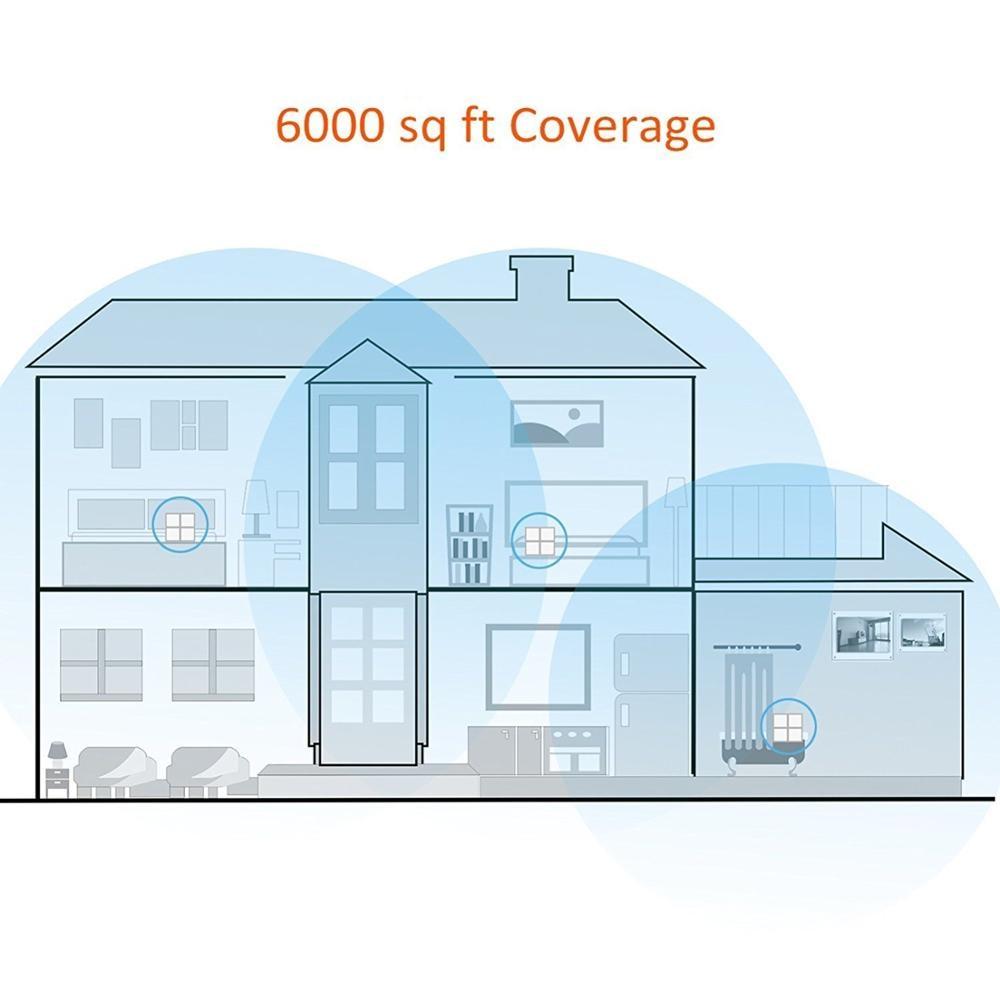 Système WiFi sans fil Tenda Nova MW6 pour toute la maison 11AC 2.4G/5GHz répéteur de gamme de routeur sans fil APP gérer jusqu'à 6,000 pieds carrés - 3