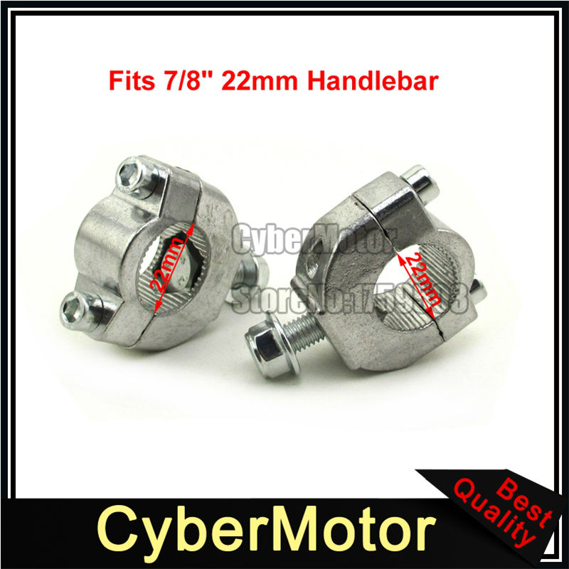 7/8 ''22mm Guidon Bar Risers Support de Montage Clamp Taper Pour 2 Temps 47cc 49cc Mini Moto Dirt Bike moto