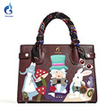 Gamystye new women handbags messenger bags women's design Embroidery totes Fairy tale PU bag