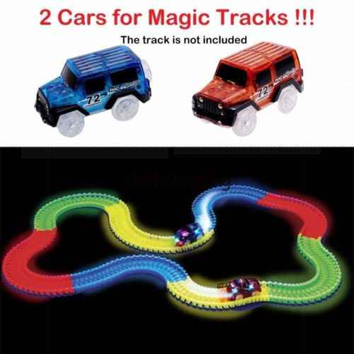 Replacement Toy Race Car For Magic Tracks Amazing Racetrack Neon Glow Light Up Electric