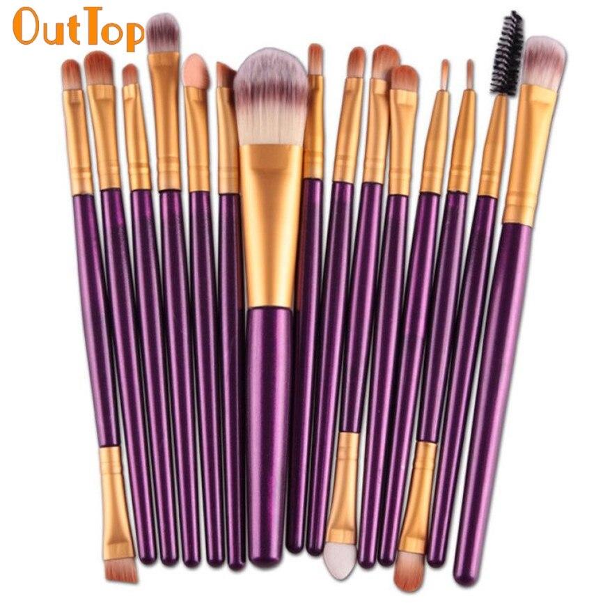 OutTop Colorwomen 15 шт./компл. тени для век основа для бровей Кисть для губ кисти для макияжа Наборы инструментов и наборы 161130 Прямая поставка F30HW