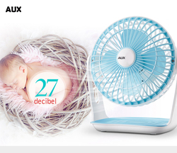 AUX Mini Electric USB Fan Home/Office Desk Use Portable Cooling Fans 360 Degree Rotation Ventilation Fans for Cooling Only A6-1