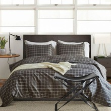 Nordic Style Plaid Bedding Set King Size Bedclothes Polyester Pillowcase Duvet Cover Set Pastoral Bedroom Decor Home Textile