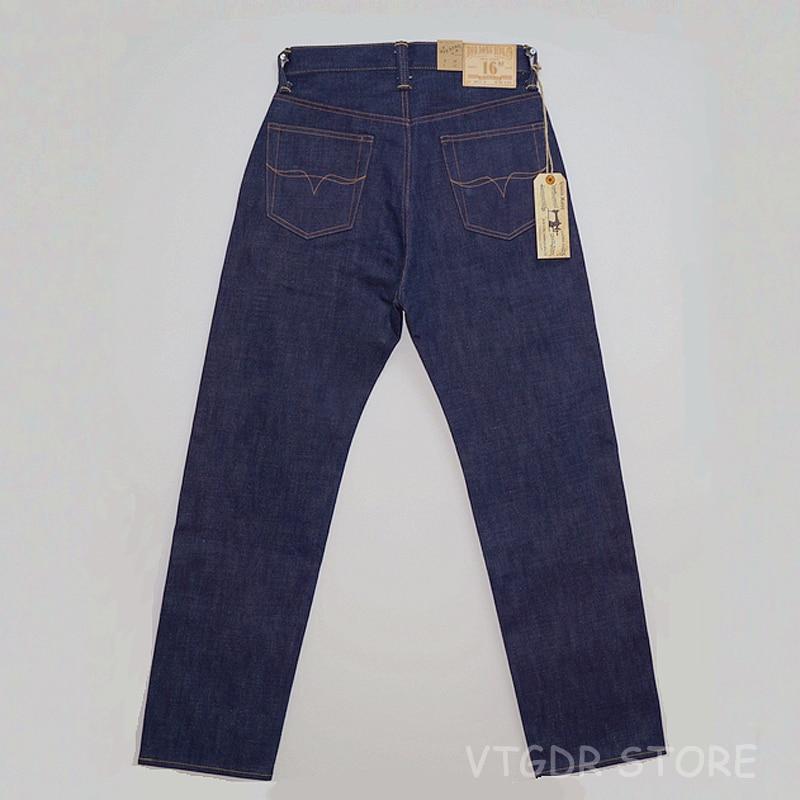 BOB DONG 16oz Regular Fit Selvage Denim   Jeans   Vintage Clothing Rigid Men's Pants