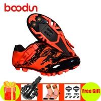 Boodun sapatos de ciclismo mtb bicicleta sapatos de equitação 2019 homens auto-bloqueio respirável spd pedais sapatos mountain bike snekaers