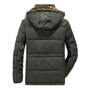 Image 3 - Mannen Winter Jas Plus Size 6XL, 7XL ,8XL Dikke Warme Parka Fleece Fur Hooded Militaire Jas Jas Zakken Windjack Mannen