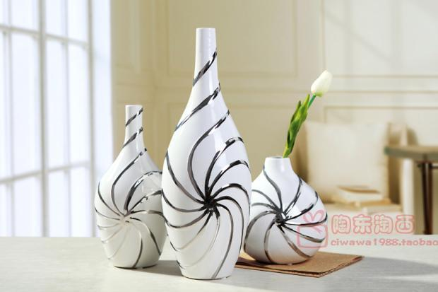 Jingdezhen ceramic vase ornaments european modern living for Grand vase decoration salon