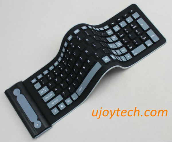 New Flexible 2.4G Foldable Mini Wireless Silicone Keyboard for PC ...