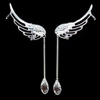 Σκουλαρίκια Κρέμαστά Γοητευτικά Με Κρύσταλο Στην Άκρη Όμορφα Σχεδιασμένα Κοσμήματα Σκουλαρίκια Αξεσουάρ MSOW