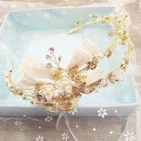 Châu âu và golden crown earring set retro Baroque cô dâu đám cưới cái mũ trang sức