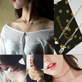 2016 Simple Unique Fashion Chain Necklace Suede Skin Choker Necklace Clavicle Torques Beads Cut Cat Turquoise Pendant Necklace