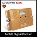 Alta Calidad!! DOBLE BANDA de 2g 3g 900/2100 mhz amplificador de señal móvil de refuerzo repetidor de señal de teléfono celular inteligente sólo de Refuerzo
