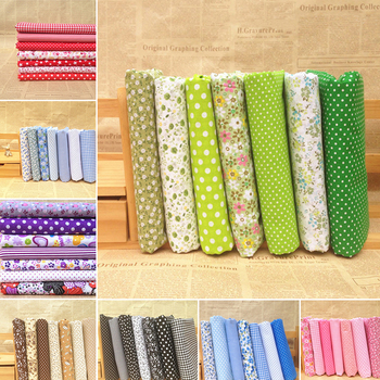 7pcs 25x25cm Mixed Cotton Fabric Printed Cloth Sewing Quilting Fabrics for Patchwork Needlework DIY Handmade Accessories