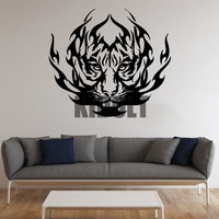 Tiger Wall Decals Vinyl Stickers Personalized Fashion Animal Plane Creative Home Decorative Painting Bedroom Den Wall Art