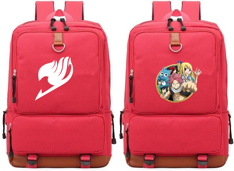 Anime Fairy Tail red  Backpack Print Shoolbag For Boys Girls Teenagers Cosplay Shoulder Mochila Laptop Bags