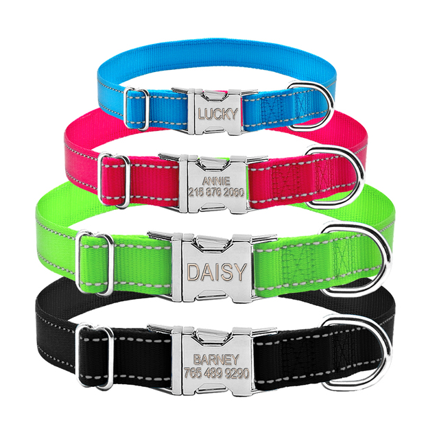 Reflective Nylon Engraved Nameplate Collars
