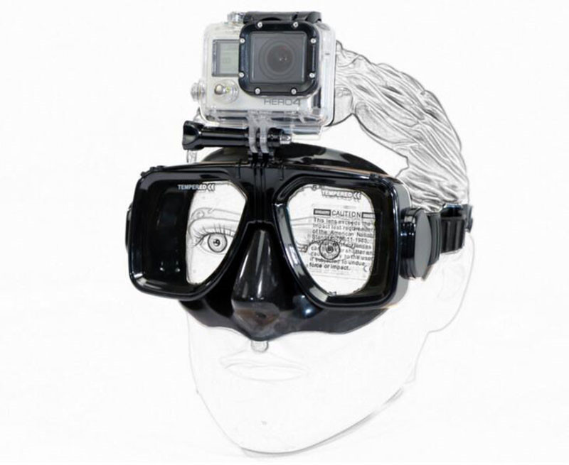 Máscara de mergulho & Goggle com Grande Visão & Vidro Temperado Adulto Anti-fog Máscara de Mergulho para Gopro Hero 7 /6/5/4/3/3 +/2/1 Xiaomi yi