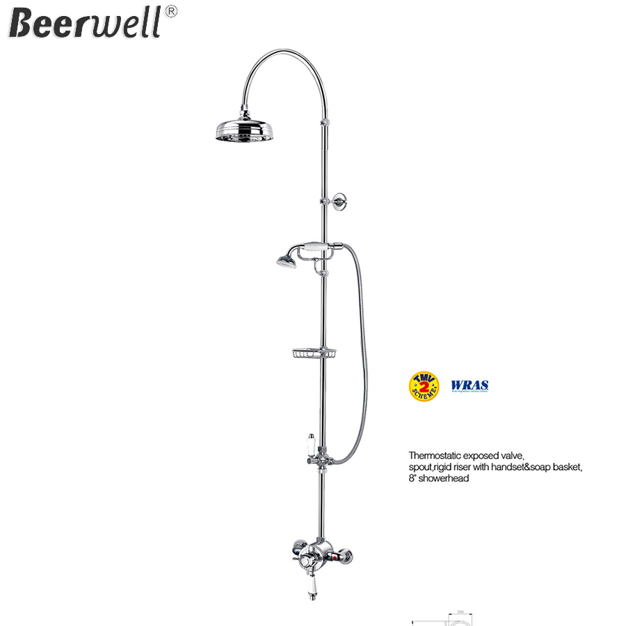 Bathroom Thermostatic exposed valve Shower Set Bath Mixer