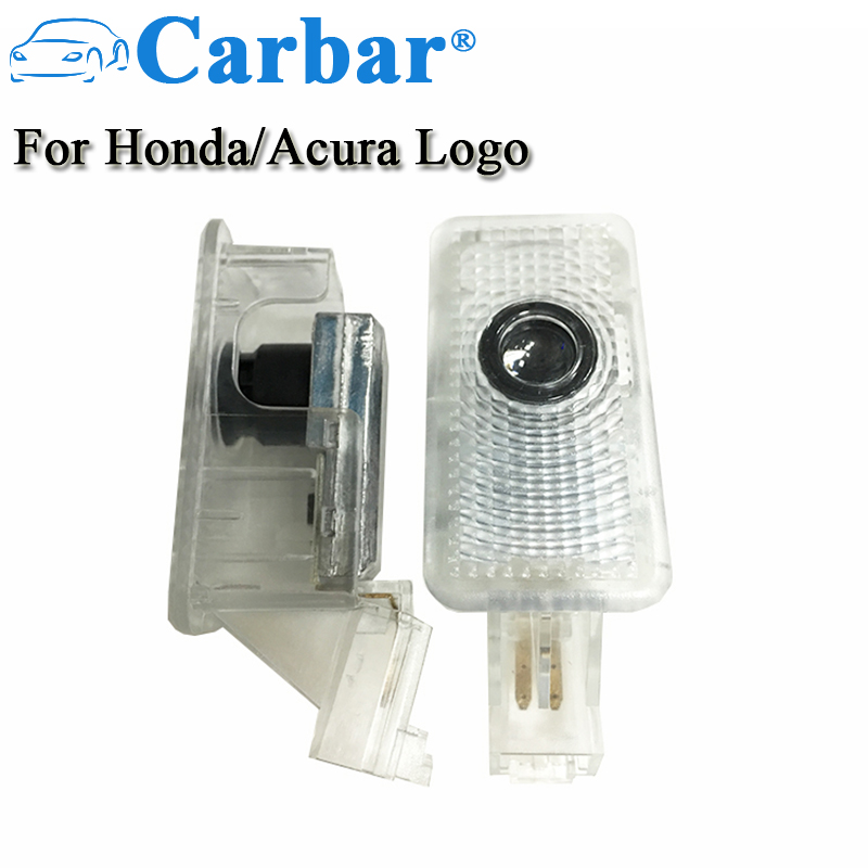 Car Door LED Logo Projector Ghost Shadow Lights Welcome Lamp Easy Installation For Acura Honda Civic Courtesy Logo Lights