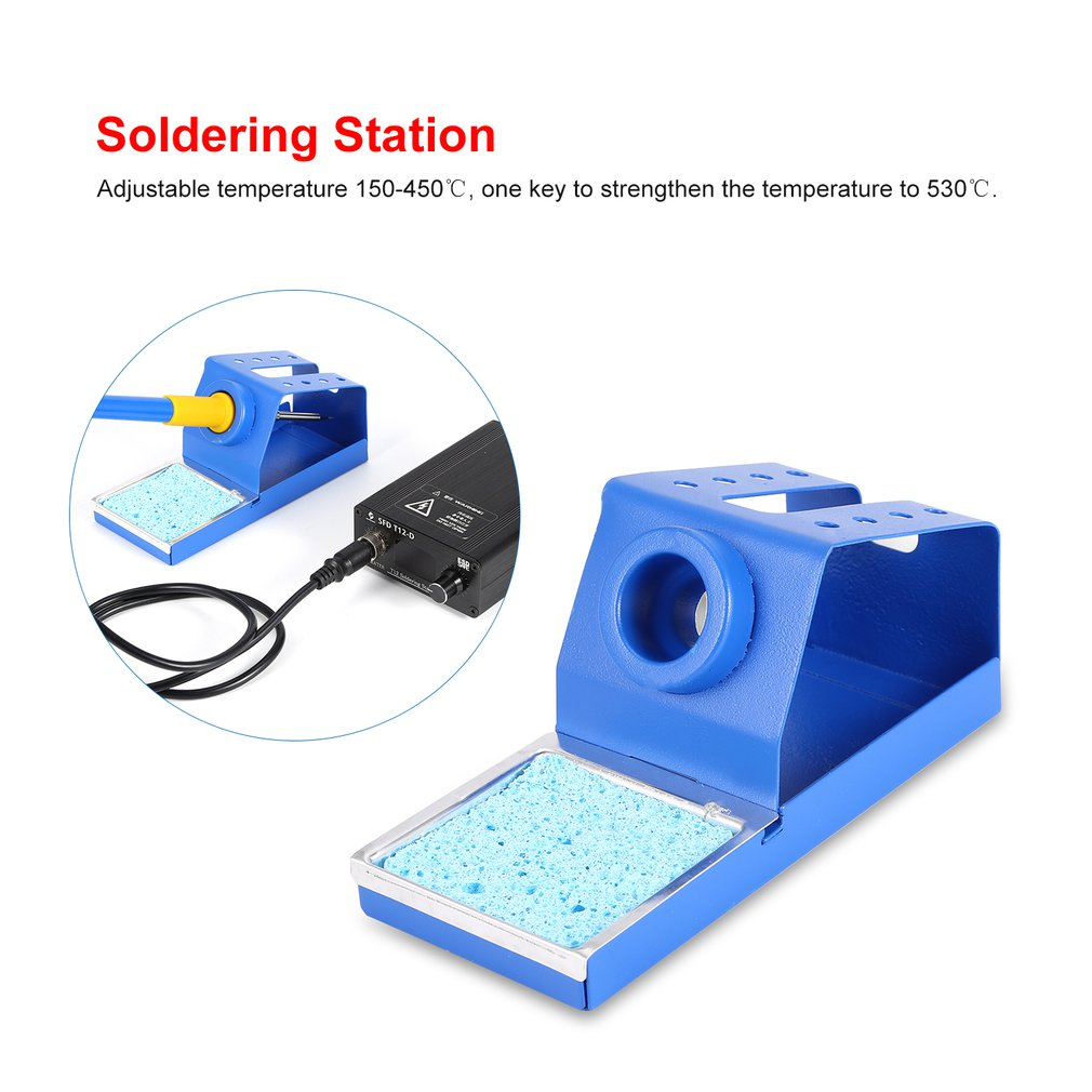 72W Electric Iron Soldering Station Solder SMD Welder Welding Tool Adjustable Temperature Rework Phone Tablet Repairing Sale