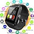 Montre Bluetooth U8 montre intelligente montre-bracelet Smartwatch montres Sport numérique pour Apple IOS téléphone Android portable électronique