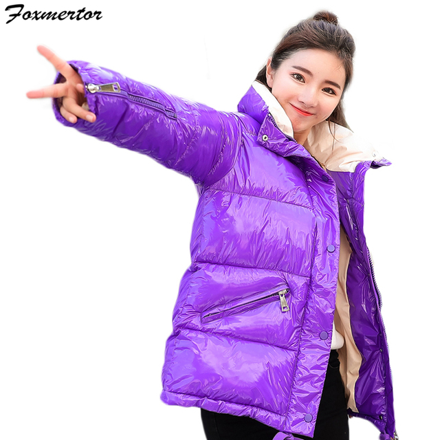 Winter Jacket Women parka Ultra Light Down No Hat Long Sleeve Warm Slim Coat Parka Female Solids Outwear abrigos mujer invierno 4