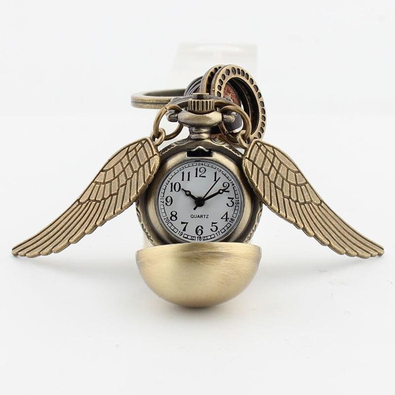 Angel Wings Quidditc золотые карманные часы Snitch Подвеска часы брелок шары Snitch брелок время Turner Талисман Аксессуары
