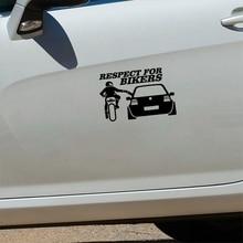 Car Sticker 3D  Respect for Bikers Auto Stickers