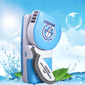 Mini USB Portable Rechargeable Hand Held Air Conditioner Summer Cooler Cooling Fan for Sports Hiking Camping Blue