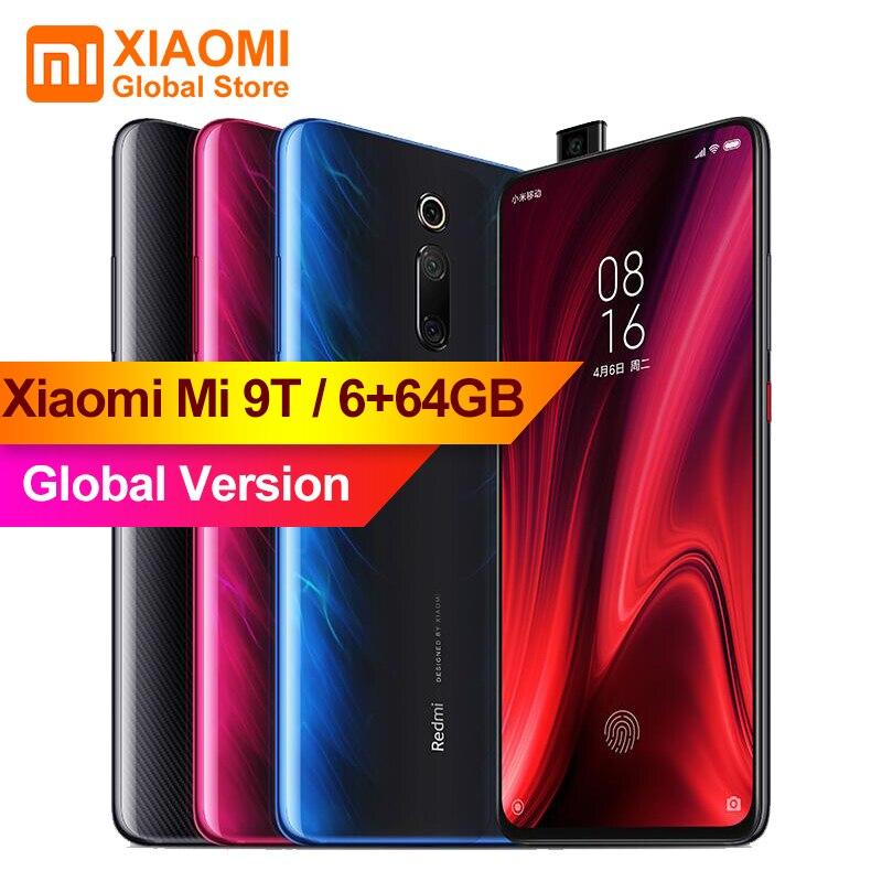 Versão Global Xiao mi mi 9 T (Red mi K20) mi 9 T 6 GB 64 GB Tela Cheia 48 mi lhões Super Grande-angular Pop-up Front câmera do Smartphone