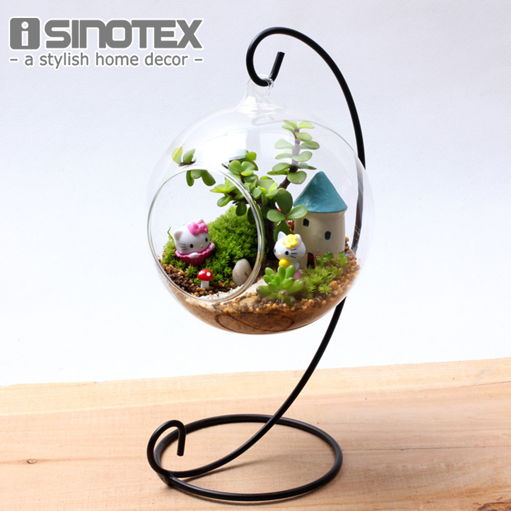 Hanging glass vase diy planting hydroponic plant flower for Glass home decor