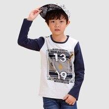 Cotton Long Sleeve Children T-Shirt 2016 Fashion Summer Cartoon Boy Tops Brand Children's Clothing For Cotton Children T-Shirt