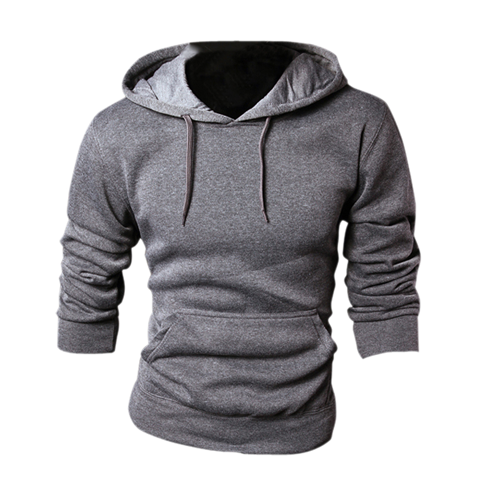 SYB 2016 NEW New spring/autumn Mens fashion Casual Hoddies Sweatshirts High Quality Men sportswear solid Fleece hoody Gray