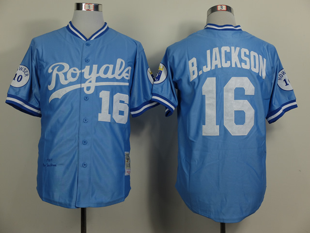 on sale a0889 753fb Retro KC Kansas City Royals Jersey 16 Bo Jackson Throwback ...