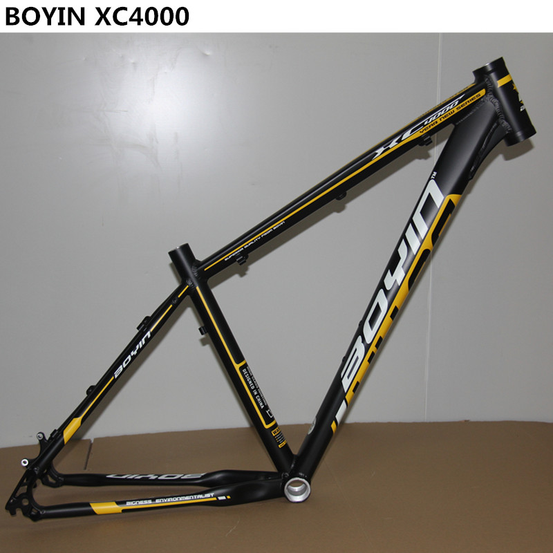 BOYIN XC4000 bicycle MTB frame high quality aluminum alloy 26 27.5 inch light weight mountain bike frame 4 color free shipping original mosso 619xc 7005 mountain bike frame 26er 17inch bicycle frame aluminum alloy frame team xc fr