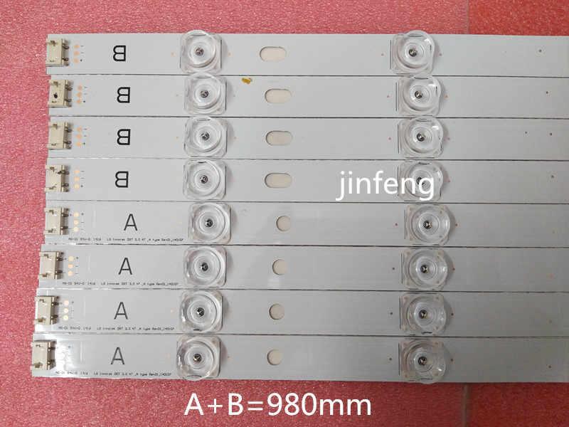 """98 Cm Lampu Latar LED Lampu Strip 9 LED LG 47 """"TV Innotek DRT 3.0 47"""" 47LB6300 47GB6500 47LB652V 47lb650v LC470DUH 47LB5610"""