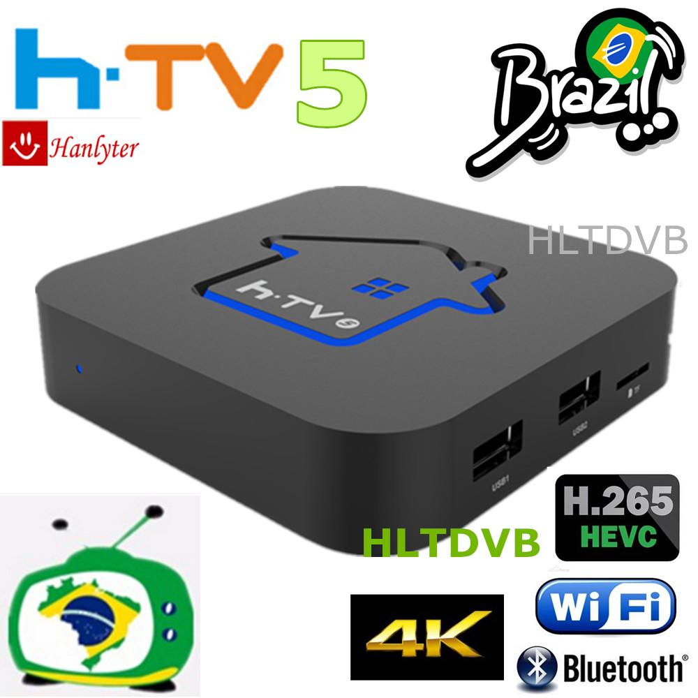 Prix pour [Véritable] HTV BOÎTE HTV5 BOÎTE H. TV 5 Portugais Brésilien TV Internet Streaming Live box IPTV lecture Brésil Lecteur Multimédia