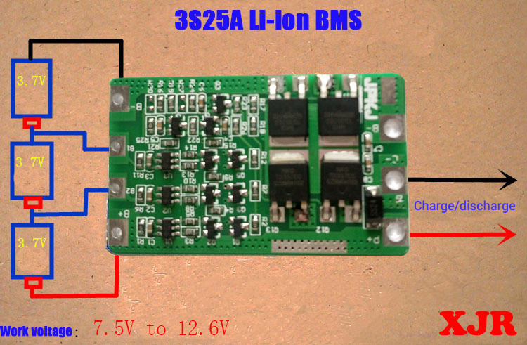 Aliexpress Com Buy 3s 25a Lipo Lithium Polymer Bms Pcm