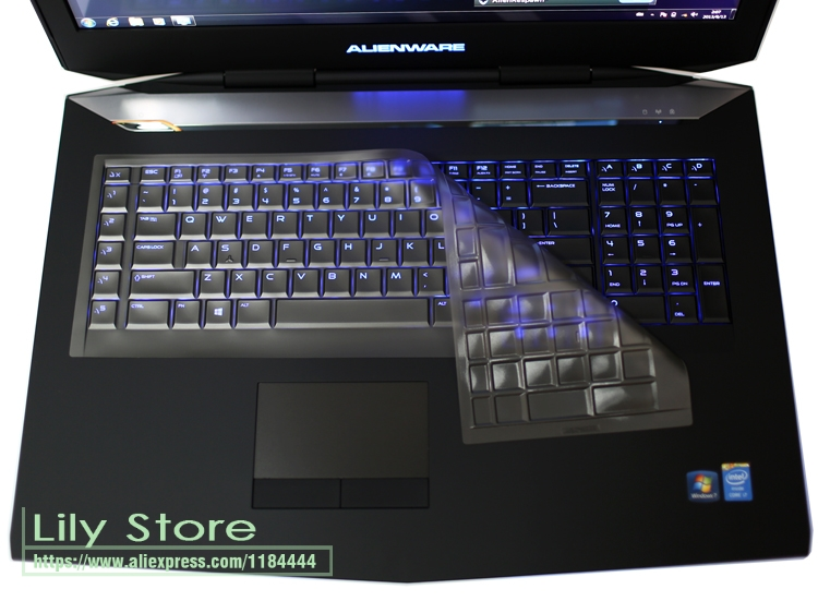 Ultra Thin Keyboard Skin Cover Protector for Dell Alienware 17 R4 R5 17R4/R5 2017 2018 Gaming