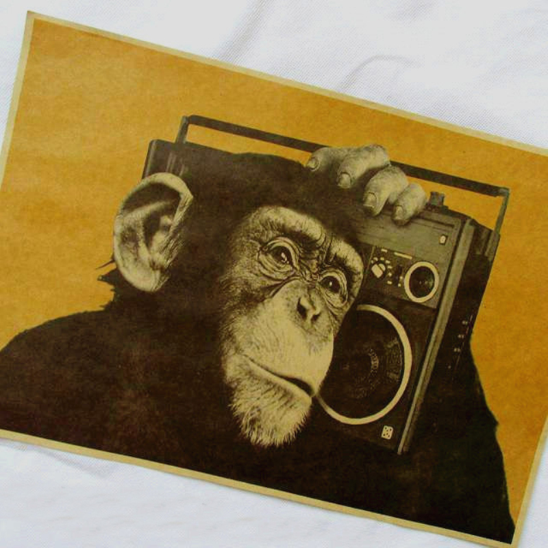 Monkey monkey music posters promotion achetez des monkey for Retro house music