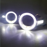 FREE Shipping LED DRL Foglight lamp LED daytime running light with fog lamp cover for FORD FOCUS 312' 14 DRL ring shape