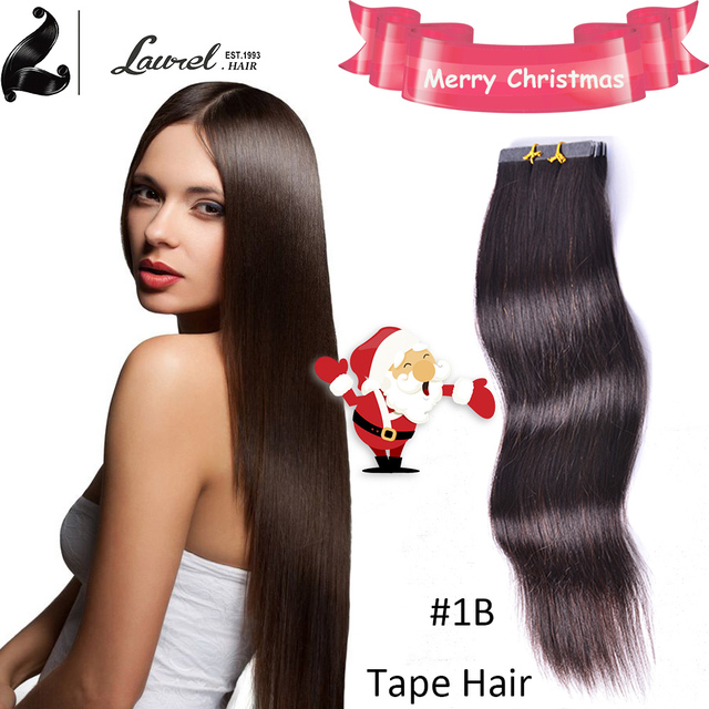 100 Brazilian Virgin Remy Tape Hair Extensions Silky Straight Merry