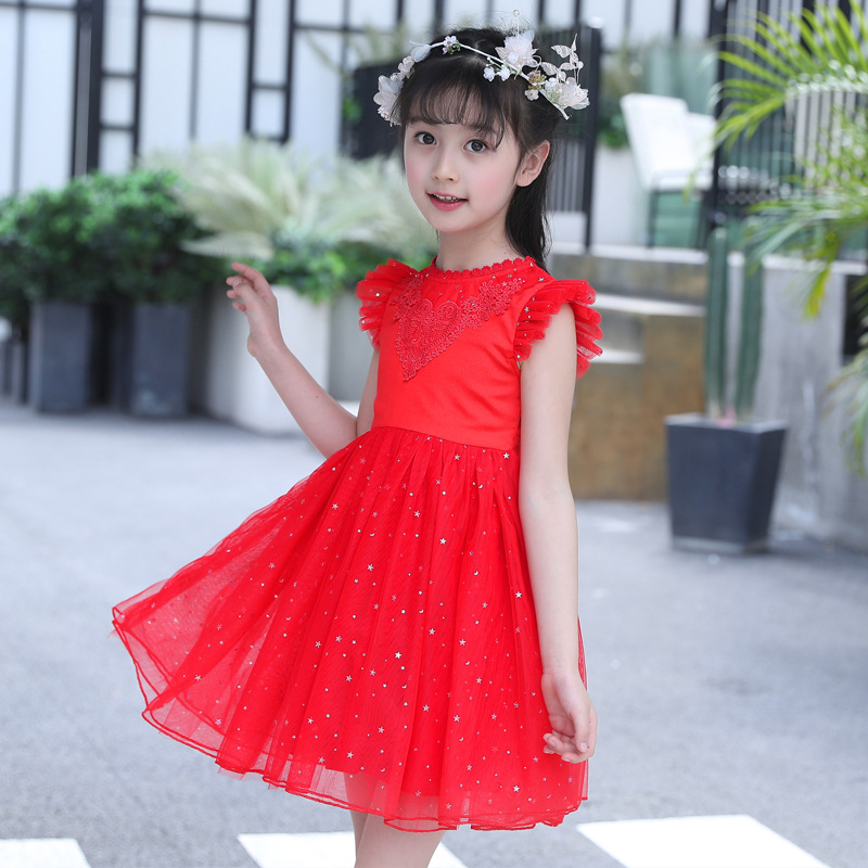 Kids Girl Ball Gown Dress NEW Toddler Girl Summer Lace Dress 3-12 Year Princess Wedding Birthday Party Dress Children Clothing ems dhl free shipping toddler little girl s 2017 princess ruffles layers sleeveless lace dress summer style suspender